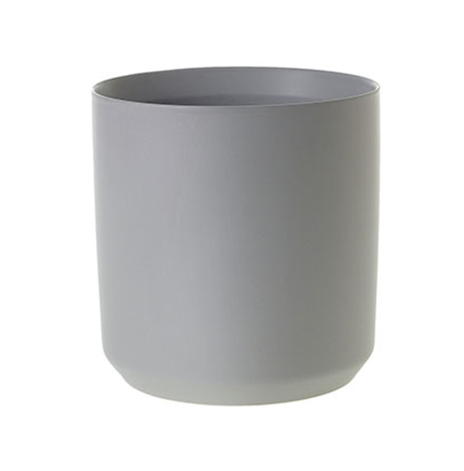 large Matte Gray Ceramic Pot