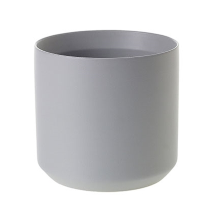 medium Matte Gray Ceramic Pot