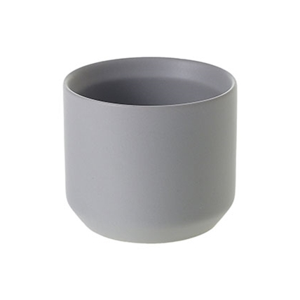 small Matte Gray Ceramic Pot