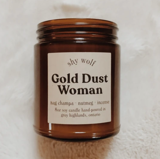 Shy Wolf Gold Dust Woman Candle
