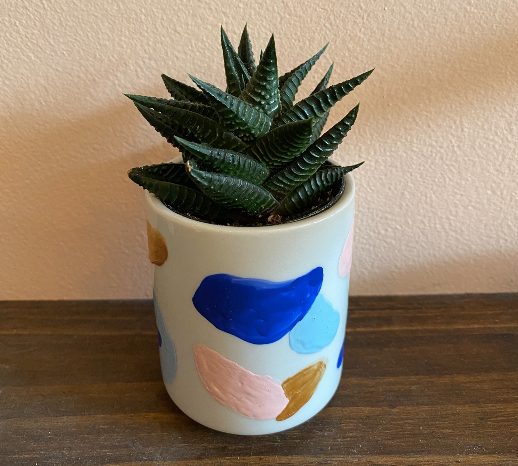 Tiny Hand-Painted Cup