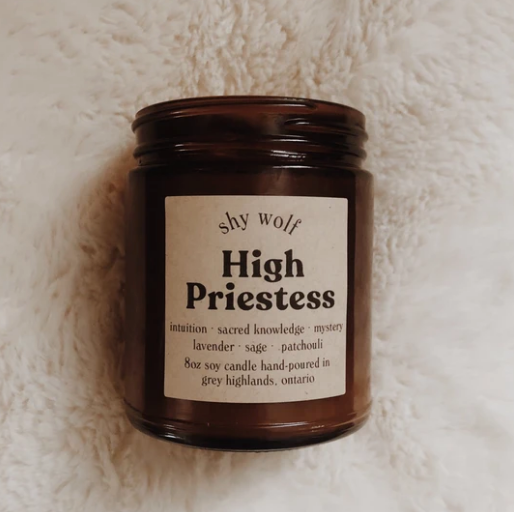 Shy Wolf High Priestess Candle