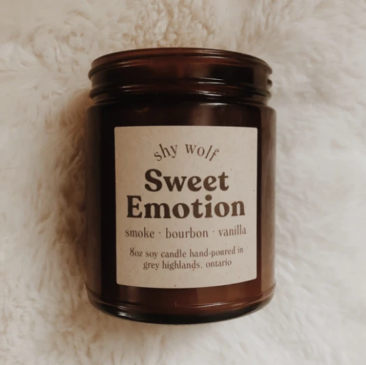 Shy Wolf Sweet Emotion Candle