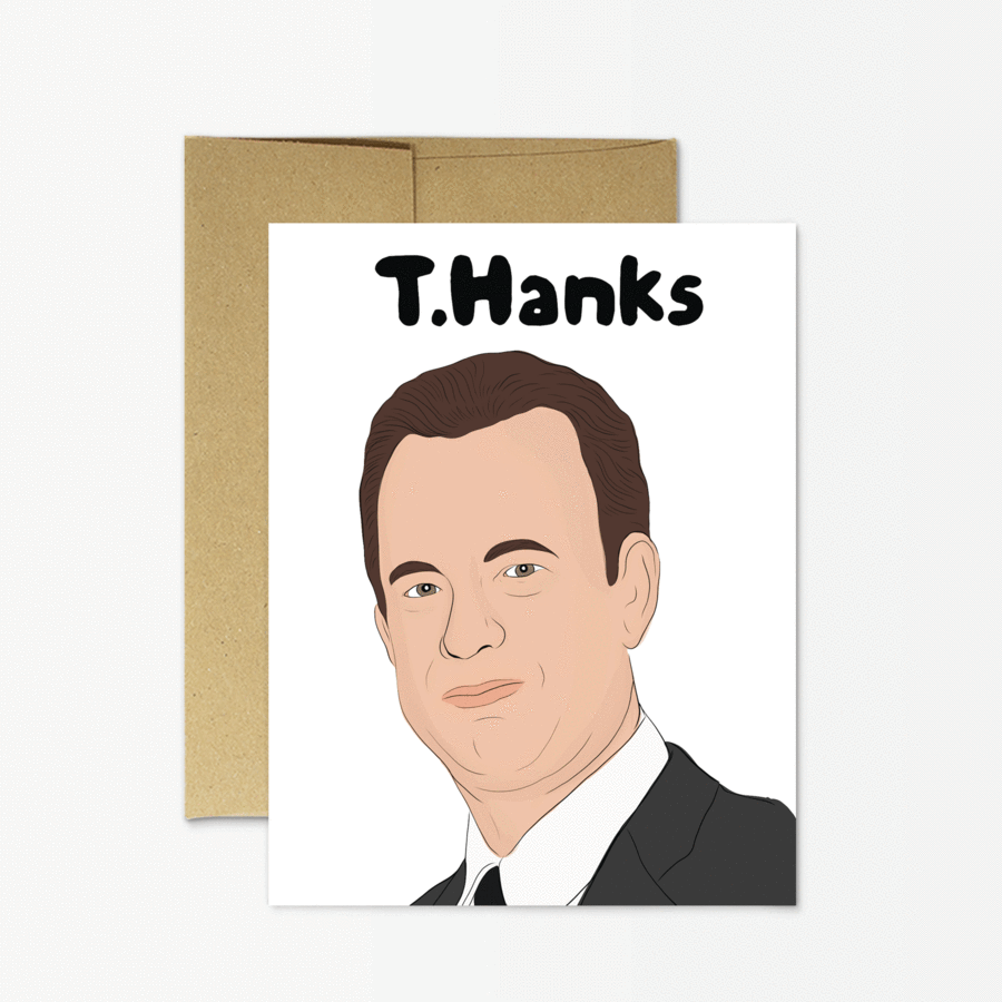 T.Hanks Tom Hanks greeting card