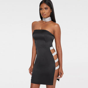 a9779fc2bf 2018 new year wholesale clothing off shoulder bodycon dress for women side  sequin lace up hollow