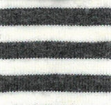 Charcoal & Natrual, 4mm stripe