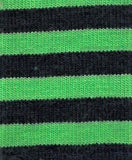 Navy & Green, 4mm stripe