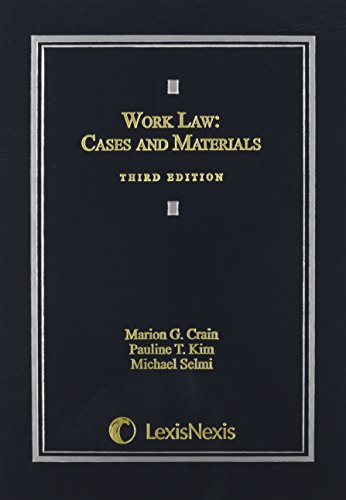 Work Law: Cases and Materials (2015)