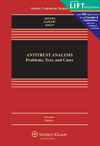 Antitrust Analysis: Problems, Text, and Cases (Aspen Casebook)