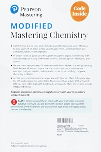 Modified Mastering Chemistry with Pearson eText -- Standalone Access Card -- for Chemistry: The Central Science