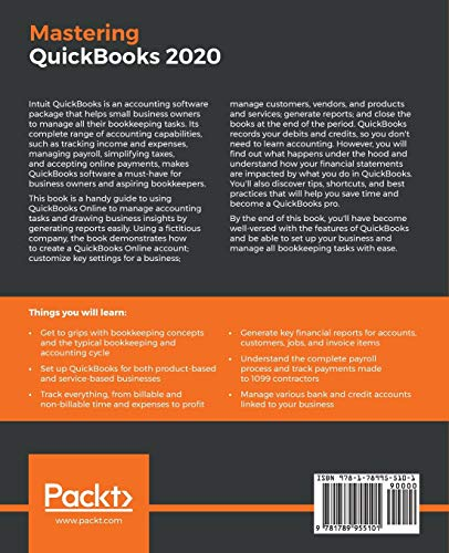 Mastering QuickBooks 2020: The ultimate guide to bookkeeping and QuickBooks Online