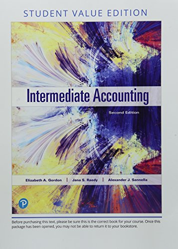 Intermediate Accounting, Student Value Edition