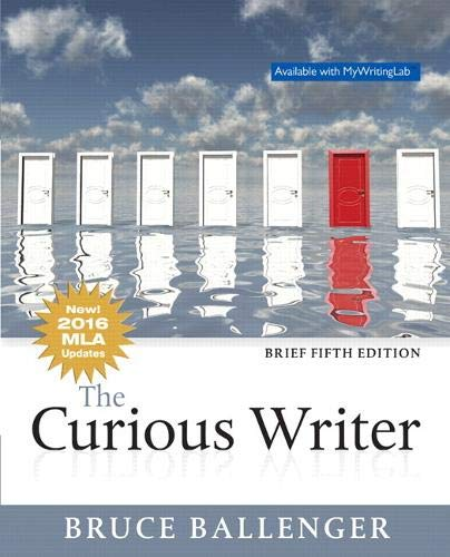 Curious Writer, The, MLA Update, Brief Edition (5th Edition)