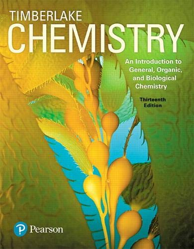 Chemistry: An Introduction to General, Organic, and Biological Chemistry Plus Mastering Chemistry with Pearson eText -- Access Card Package (13th Edition)