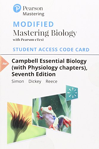 Modified Mastering Biology with Pearson eText -- Standalone Access Card -- for Campbell Essential Biology (with Physiology chapters) (Masteringbiology, Non-Majors)