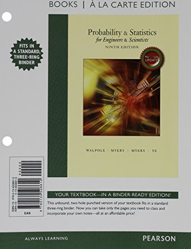 Probability & Statistics for Engineers & Scientists, MyLab Statistics Update, Books a la Carte Edition Plus NEW MyLab Statistics with Pearson eText -- Access Card Package