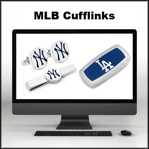 MLB Cuff-links, Lapel Pins, Money Clips, Tie Bars, and Tie Clips