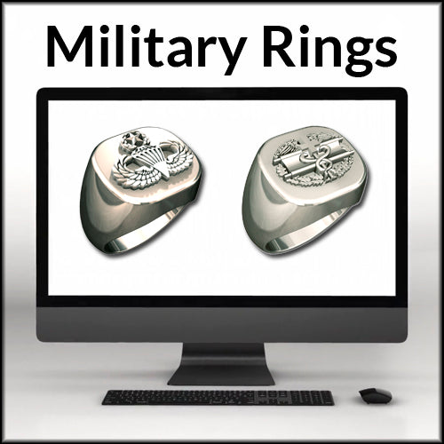 Military Warrior Rings