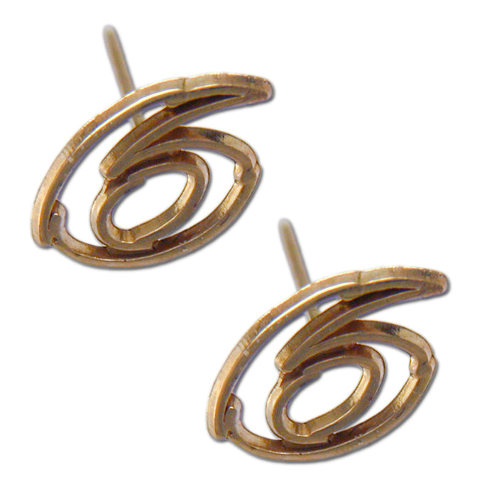 #6 NASCAR Driver 14 kt gold Open Post Earrings
