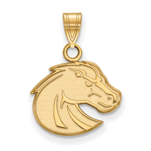 SS w/GP Boise State University Small Bronco Pendant