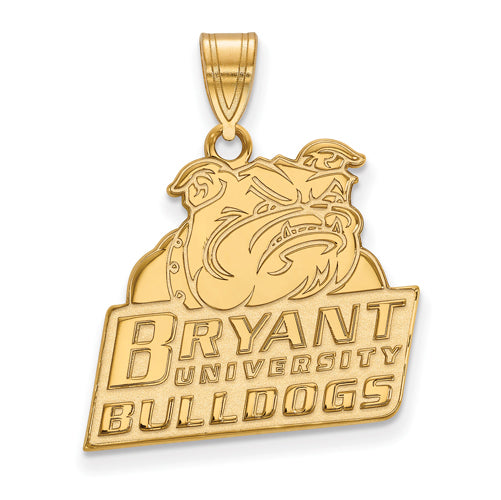 SS w/GP Bryant University Large Pendant