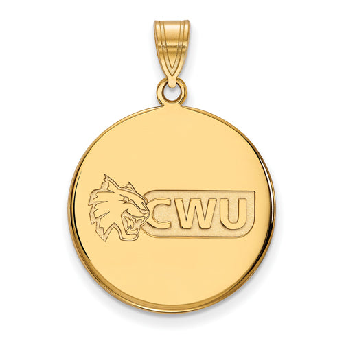 SS w/GP Central Washington University Large Disc Pendant