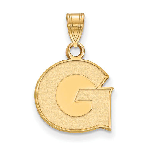 SS w/GP Georgetown University Small Pendant