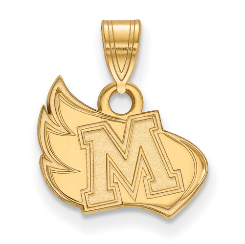 14ky LogoArt Meredith College Small Pendant