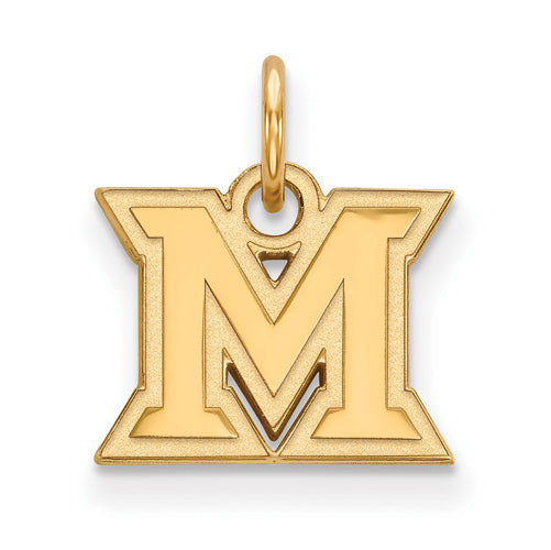 SS w/GP Miami University XS Logo Pendant