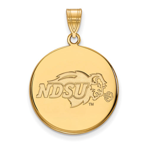 SS w/GP North Dakota State Large Disc Pendant