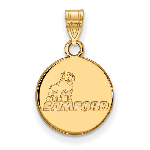 SS w/GP Samford University Small Pendant