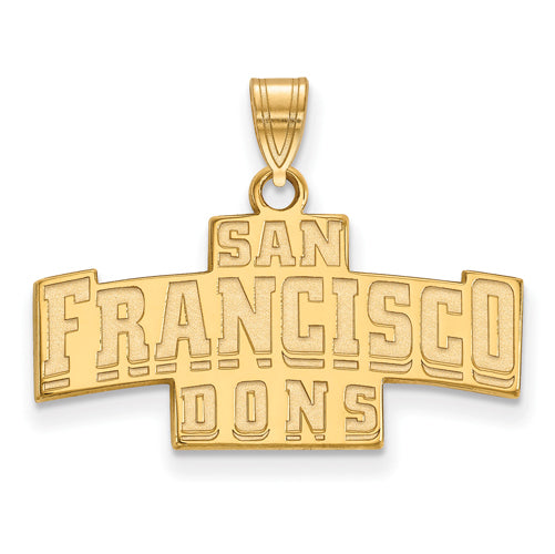 SS w/GP University of San Francisco Small Pendant