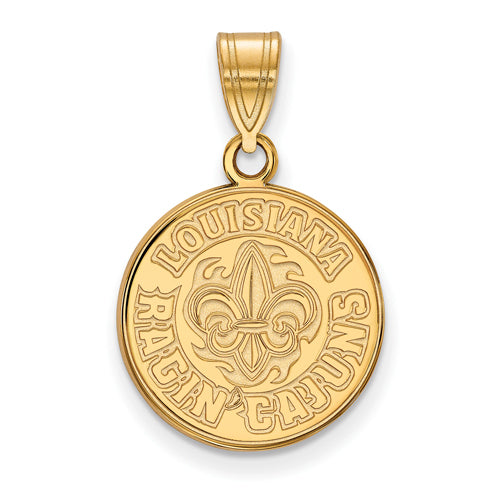 14ky University of Louisiana at Lafayette Medium Pendant