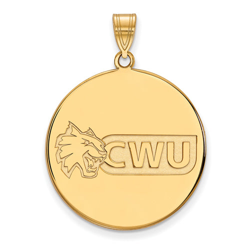 SS w/GP Central Washington University XL Disc Pendant