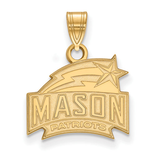 14ky LogoArt George Mason University Small Pendant