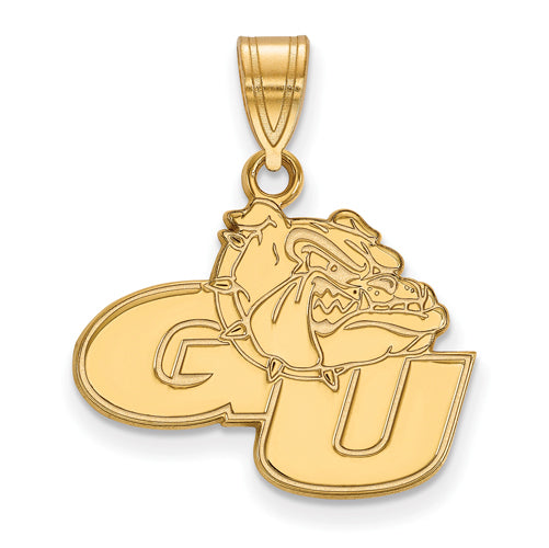 14ky LogoArt Gonzaga University Medium Pendant