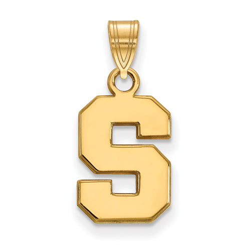 SS w/GP Michigan State University Small Pendant
