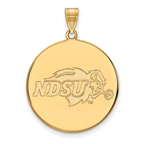 SS w/GP North Dakota State XL Disc Pendant