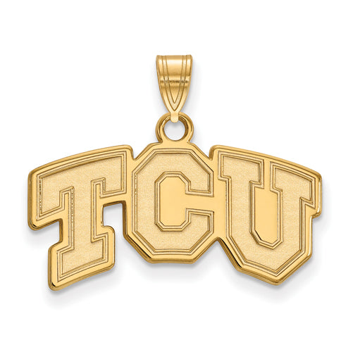 SS w/GP Texas Christian University Small TCU Pendant