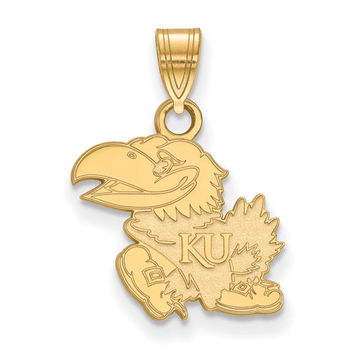 SS w/GP University of Kansas Small Jayhawk Pendant