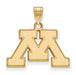 14ky University of Minnesota Small Logo Pendant