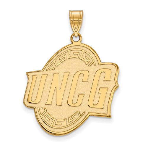 SS w/GP U of North Carolina at Greensboro XL Pendant