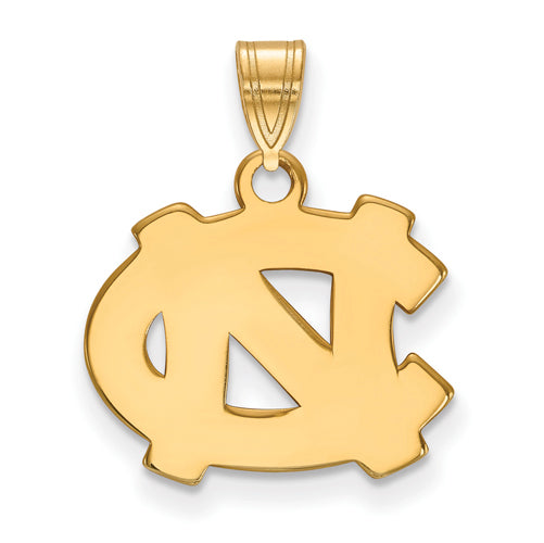 SS w/GP University of North Carolina Small NC Logo Pendant