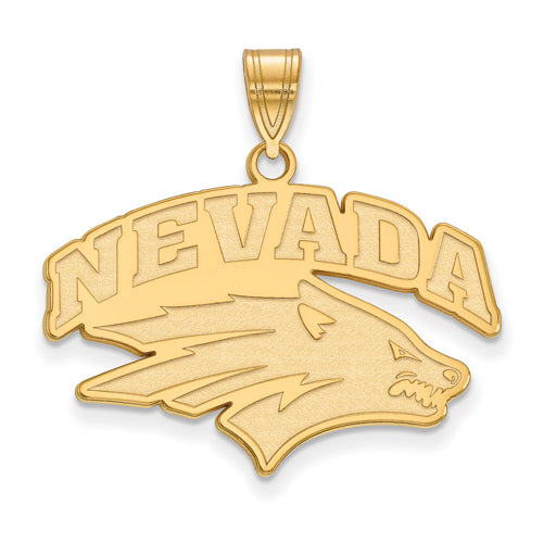 SS w/GP University of Nevada Large Wolf Pack Pendant