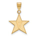 10ky Vanderbilt University Large V in Star Pendant