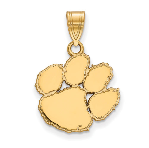 14ky LogoArt Clemson University Medium Pendant