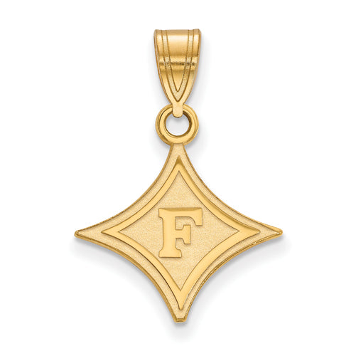 14ky F Logo Furman University Medium Pendant