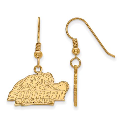 SS w/GP Southern University Small Dangle Earrings