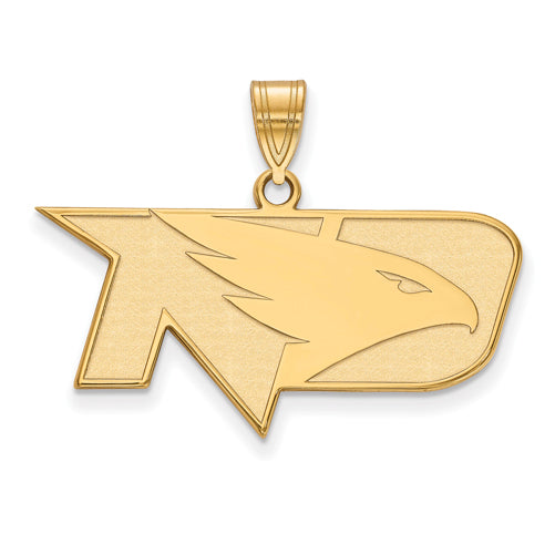 SS w/GP University of North Dakota Medium Fighting Hawks Pendant