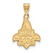SS w/GP University of New Orleans Large Pendant